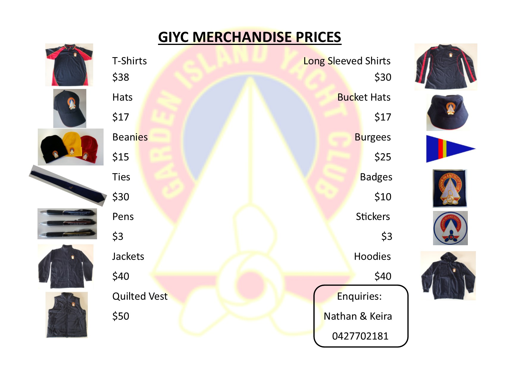 merchandise prices JPG Format